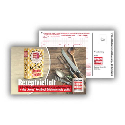 Print Mailing Österreich - Bonus Cards Gutschein Booklets mit performance werk